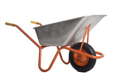 Steel wheelbarrow 120L